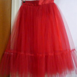 Stunning Red Tulle Skirt